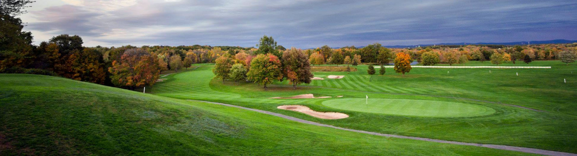 Fall colors emerge on the course at Crestview Country Club